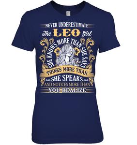 Never Underestimate The Leo Girl T Shirts