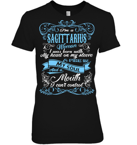 Sagittarius Woman I Was Born With My Heart On My Sleeve T Shirts
