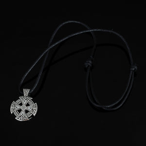 Cross Viking Shield Pendant Necklace Jewelry Tibetan Silver Solar Cross