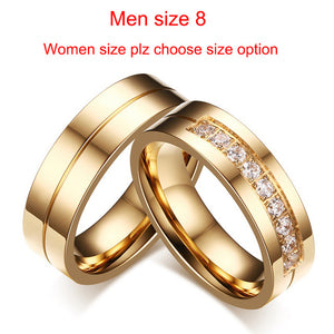 Rings for Women Men Couple Promise Band Stainless Steel Anniversary Engagement Jewelry Alliance Bijoux