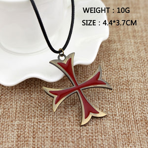 Hot Sale Jewelry Mens Necklace Vintage Knights Templar Iron Cross Pendant