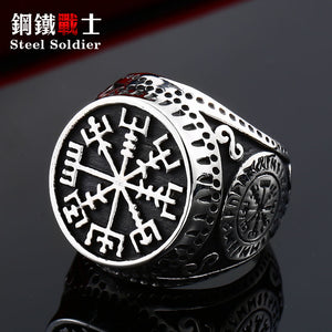 charm norse viking rune ring stainless steel engagement and wedding ring set biker ring men