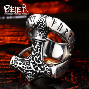 Stainless Steel Norse Viking Nordic Myth High Quality fashion wholesale ring fashion jewelry BR8-533