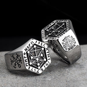 Viking rune stainless steel  rings  for man and women