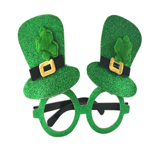 St Patrick Day Glasses Shamrock Hat Eyewear Party Dress Costumes Accessories