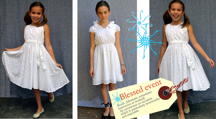 Our First Communion, Confirmation dresses and infant baptism dresses are ideal for your girl's special day.  Made in the USA of silk, cotton, modern and stylish. 5th grade graduation dress, trend setting, hip Flower Girl Dresses, baby girl baptism, little girl boutique, Easter outfits, wedding party dresses for girls made in San Francisco USA