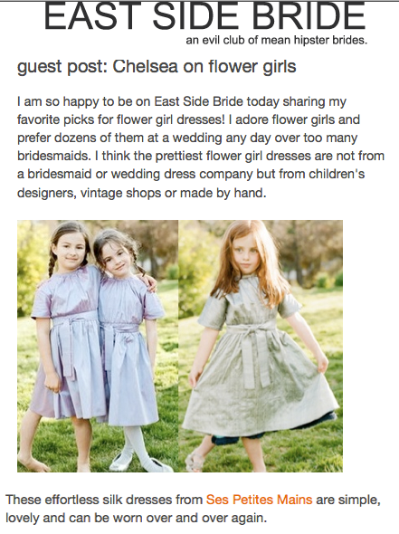 East Side Brides, Flower Girl dresses Ses Petites Mains