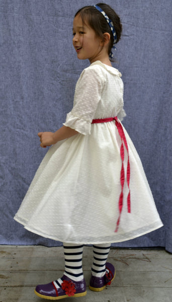 Adora Dress, Alyce Dot, Winter white