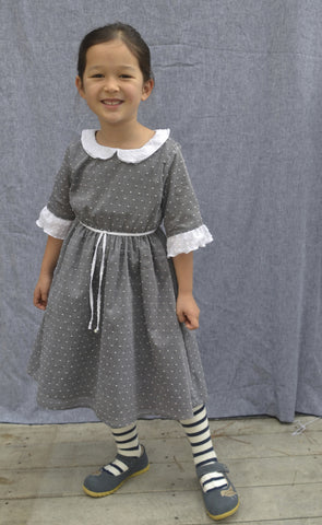 Adora Dress, Alyce Dot, Charcoal