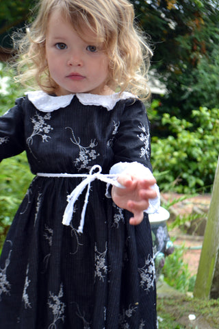 Adora Dress, Floral Embroidery, 3t only