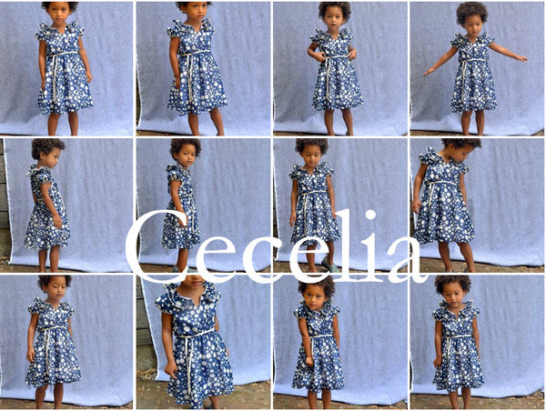 Cecelia dress, Tiddly Wink Dots