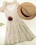 Girls Panama Hat, Rose & Cream