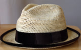 Crotcheted Panama Hat, with black or brown details