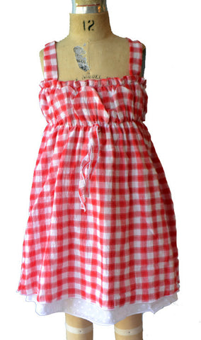 Deauville Dress, North Beach Check, size 2t only