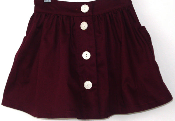 Dylan Skirt, Organic Cotton Twill