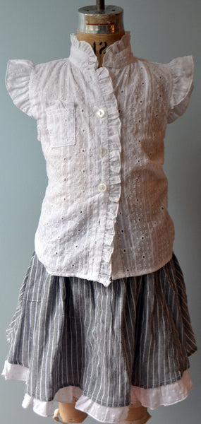 Fey Blouse, Dotted Eyelet