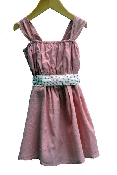 Flicka Dress, Alyce Dot with Confetti Tie