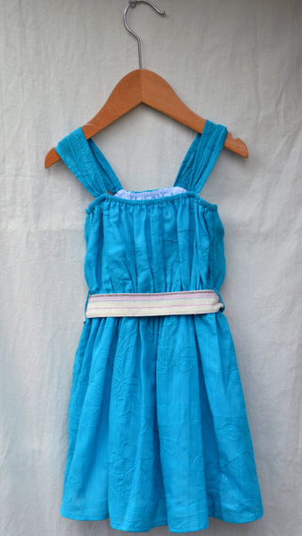 Flicka Dress, Flowers & Embroidery, 2t only
