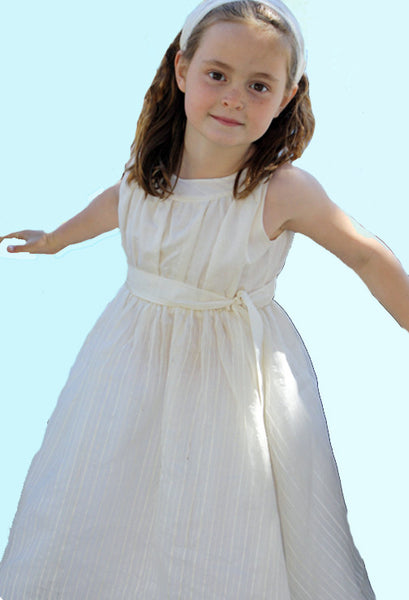 Gertie dress, Alabaster Tissue Silk & Organza