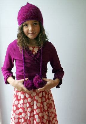 Edna Cardigan, Barre Knit, ruby size 2t-4t only!