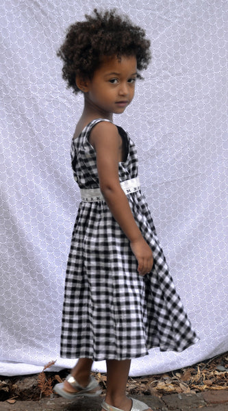 Black & White, Flicka dress | back-to-school clothes | party dress | flower girl dress | made in USA