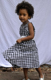 Gertrude dress, Alfresco Check, Black & White-Size 12 only