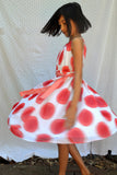 Gertrude dress, Grand Dots, Cherry, size 4t only!