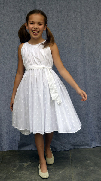 Gertrude Dress, Clip Dot, Sizes 10-14