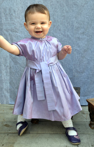 Grace dress, Clara Silk, amethyst