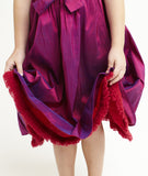 Sofia dress, Clara Silk with fringe trim, Various Colors