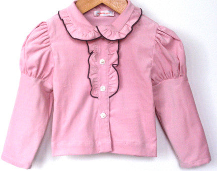 Leisl Blouse, Tiny Wale Cord, Ballet Pink