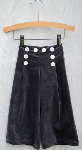 Lidia Trouser, Cut Cord, Charcoal, 12mo only