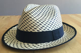 Black & White Modern Panama Hat