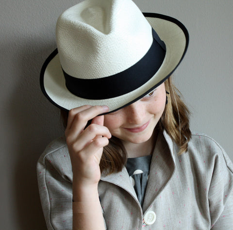 Girls Panama Hats, modern panama hat for tweens, made in Ecuador, FDR Panama hat