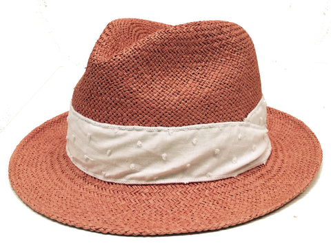 Girls Panama Hat, Rose & Alyce Dot