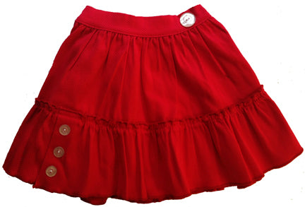 Pigalle skirt, cherry baby pique