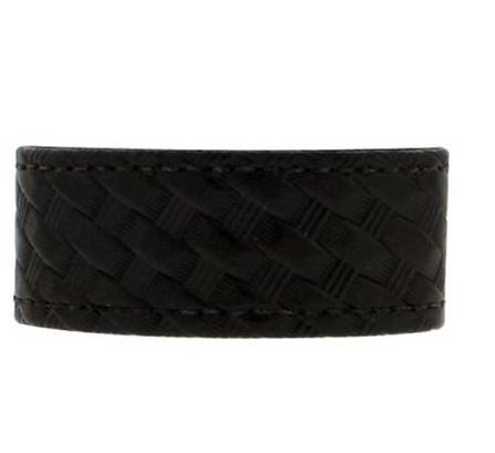 Bianchi 7906 Elite Belt Keeper Hidden Snap Basketweave Synthetic Leather Black Package of 4