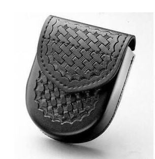 Safariland 90HS Handcuff Pouch, Top Flap, Hidden Snap, for Hinged Cuffs 90H-4HS  Basketweave