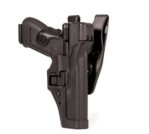 BLACKHAWK! Level 3 Auto Lock SERPA Duty Holster GLOCK 21 / S&W M&P 45 Right Hand Matte
