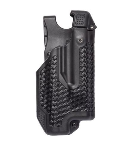 BlackHawk Epoch Level 3 Molded Light Bearing Duty Holster for Smith and Wesson MP 40, Basketweave, Right Hand 44E025BW-R — Color: Black, Finish: Bas