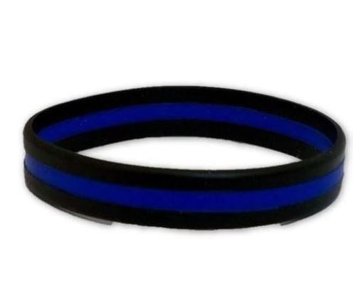 Thin Blue Line 10' Silicone bracelet