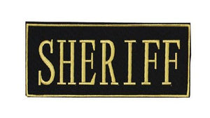 "Voodoo Tactical SHERIFF Patch 2 ""x 4"""