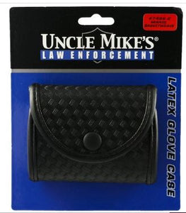 Uncle Mike's Mirage Basketweave Duty Double Latex Glove Pouch, Black