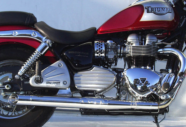 Triumph Bonneville America Slash Cut Sports Mufflers