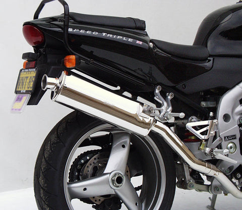 Triumph Speed Triple Oval Sports Muffler 2002 to 2004