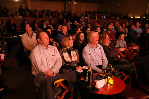 Laugh Factory crowds enjoying or JokeAThon for Miles