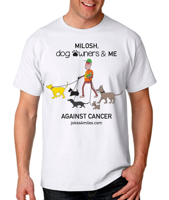 Milosh, Dog Owners & Me Against Cancer