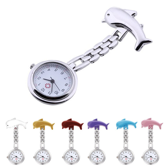 Nurses Clip-on Dolphin Pocket Watch,1st Responders 1 Cent
