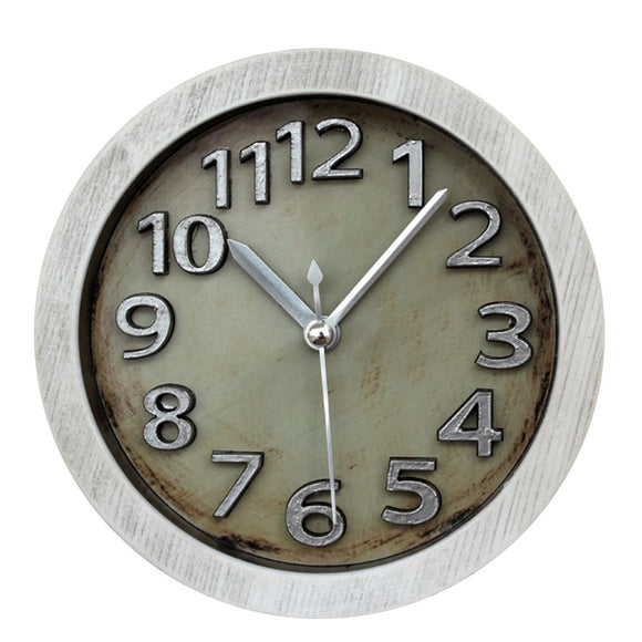 Antique Stainless Steel Wall Clock (3D Retro)