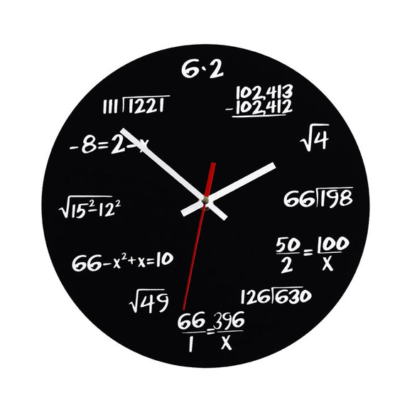 This Mathematical Blackboard Wall Clock (For Math Lovers!)